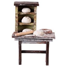 Comida em Miniatura para Presépio: Banca padeiro para presépio com figuras de 10 cm de altura média