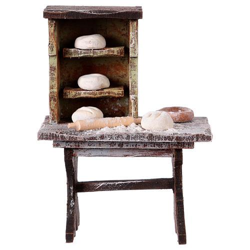 Banco del panettiere per statue da 12 cm 1