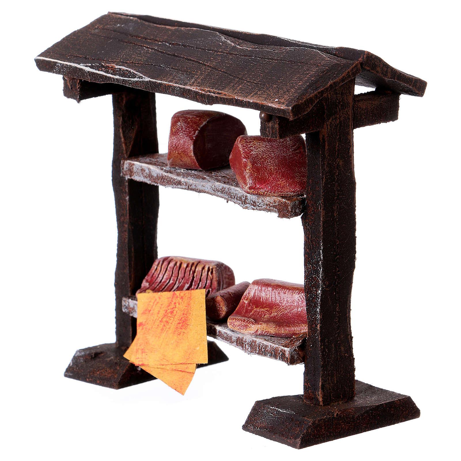 Banchetto carne in legno 9x8,5x4 cm per presepi di 7-8 cm 4