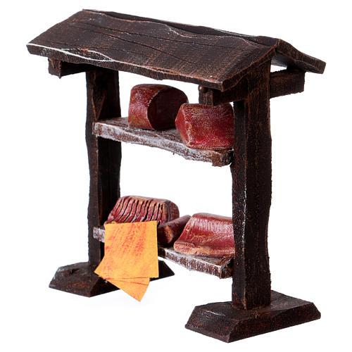 Banchetto carne in legno 9x8,5x4 cm per presepi di 7-8 cm 2