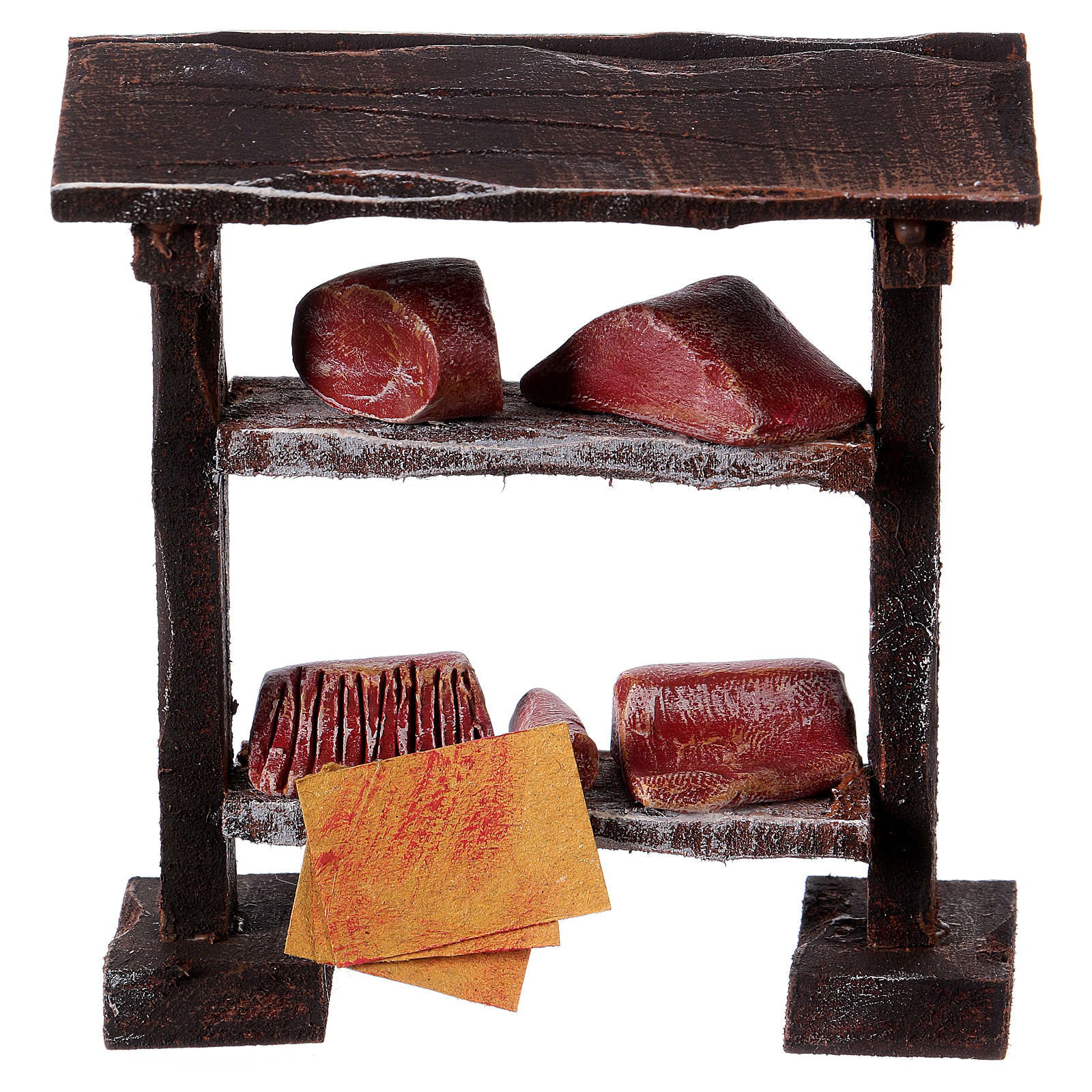 Butcher stand in wood 9x8.5x4 cm, for 7-8 cm nativity 4