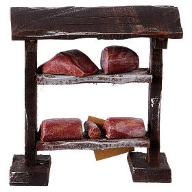 Butcher stand in wood 9x8.5x4 cm, for 7-8 cm nativity s4