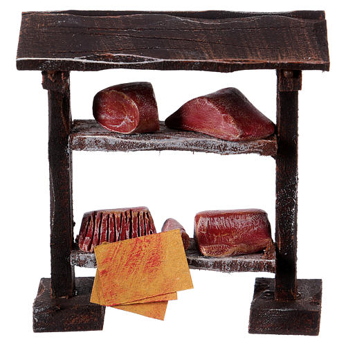 Butcher stand in wood 9x8.5x4 cm, for 7-8 cm nativity 1