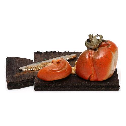 Tagliere con zucca presepe napoletano con statuine da 24 cm 3