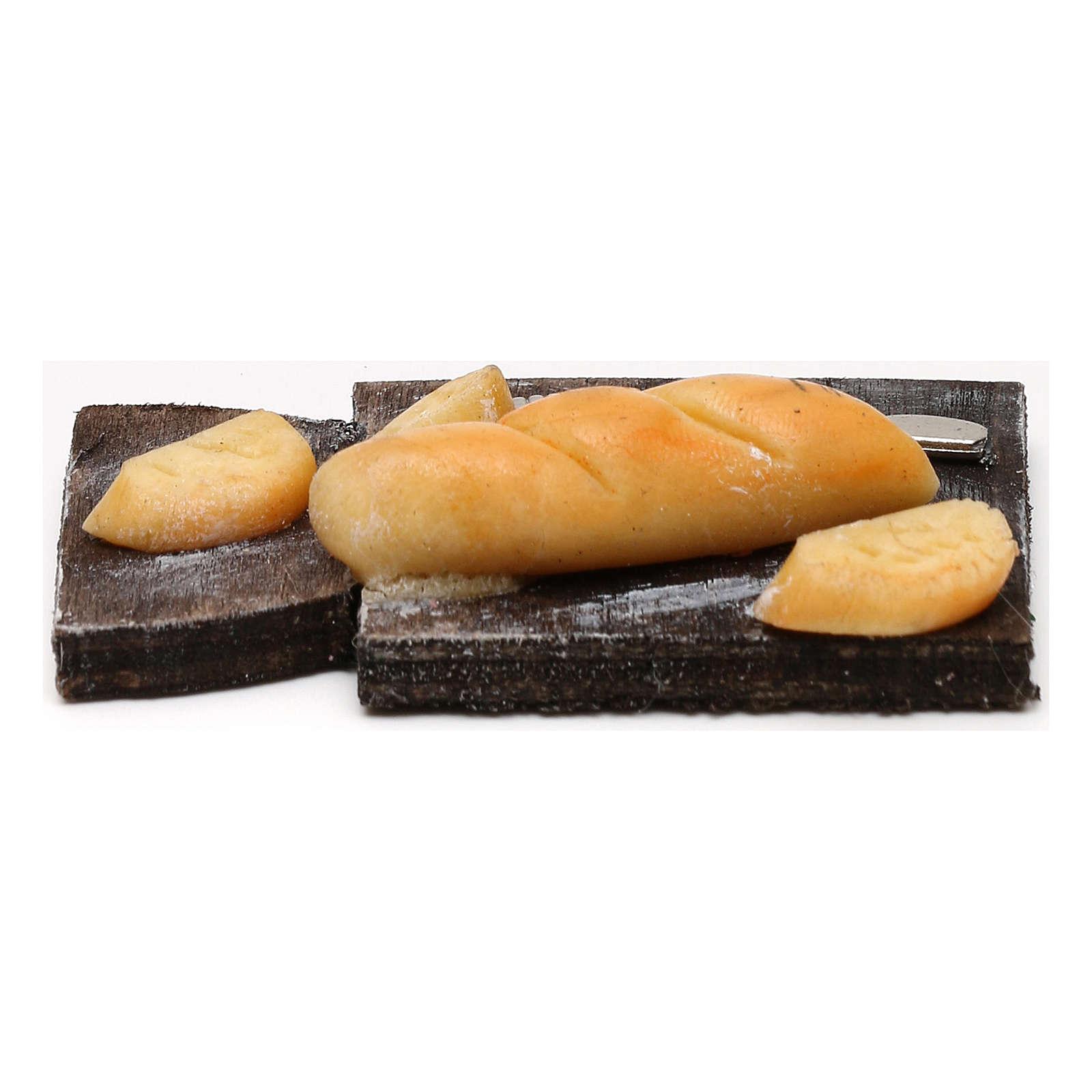 Cutting board with bread, Neapolitan Nativity scene 24 cm 4