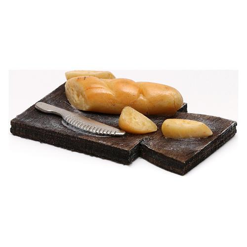 Cutting board with bread, Neapolitan Nativity scene 24 cm 2