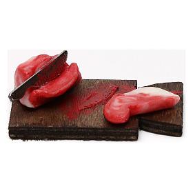 Tagliere carne con fetta per presepe napoletano con statuine da 24 cm s1