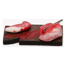 Tagliere carne con fetta per presepe napoletano con statuine da 24 cm s3