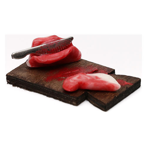 Tagliere carne con fetta per presepe napoletano con statuine da 24 cm 2