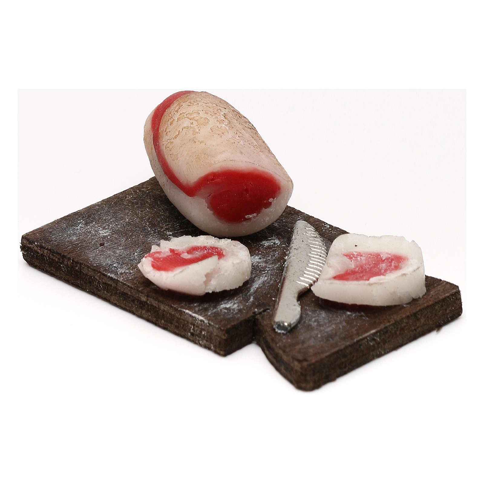 Tagliere pancetta per presepe napoletano con statuine da 24 cm 4