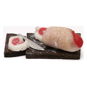 Tagliere pancetta per presepe napoletano con statuine da 24 cm s3