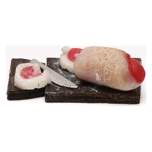 Tagliere pancetta per presepe napoletano con statuine da 24 cm 3