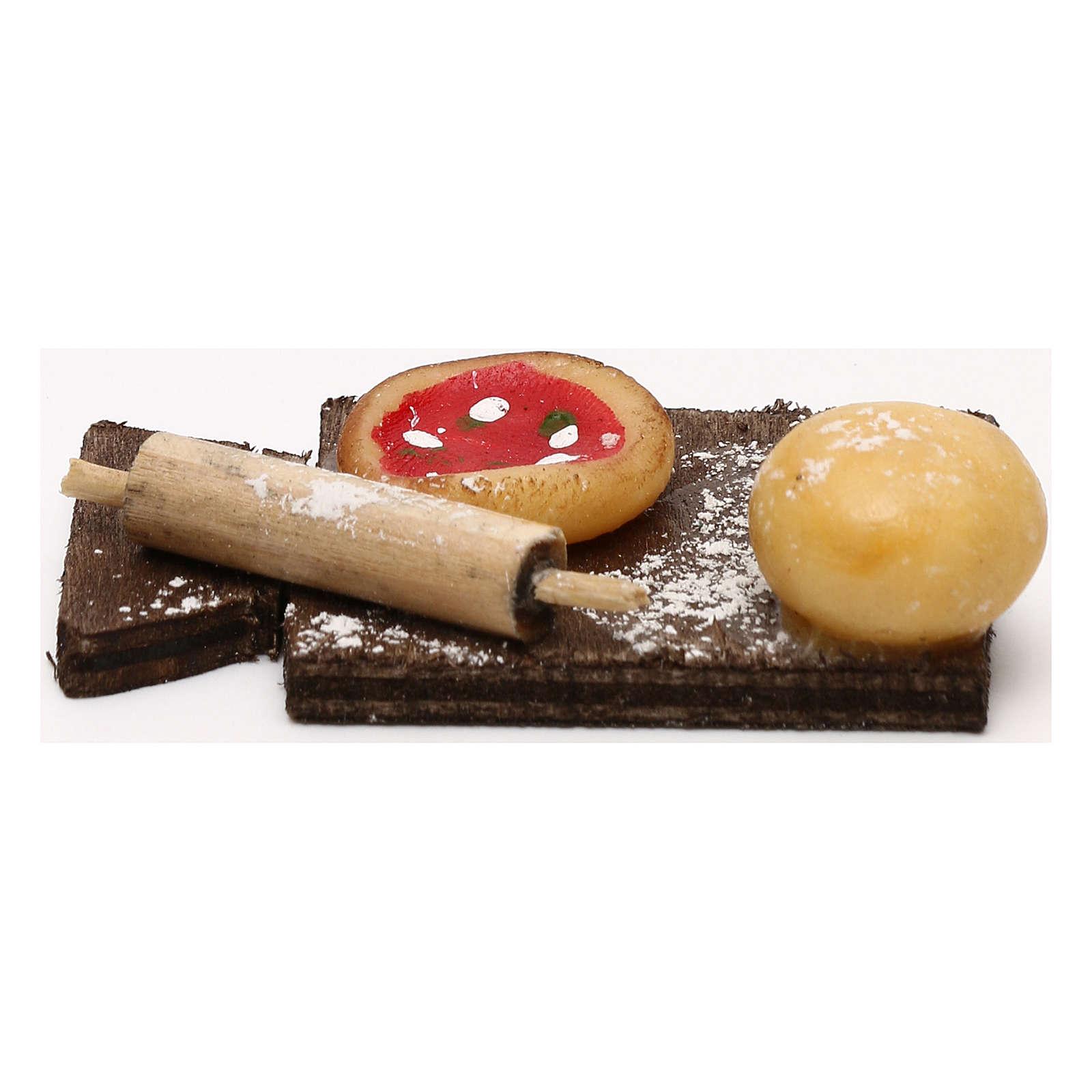 Tagliere pizza per presepe napoletano con statuine di 24 cm 4