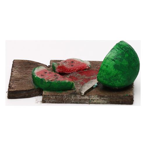 Tagliere anguria presepe napoletano 24 cm 3