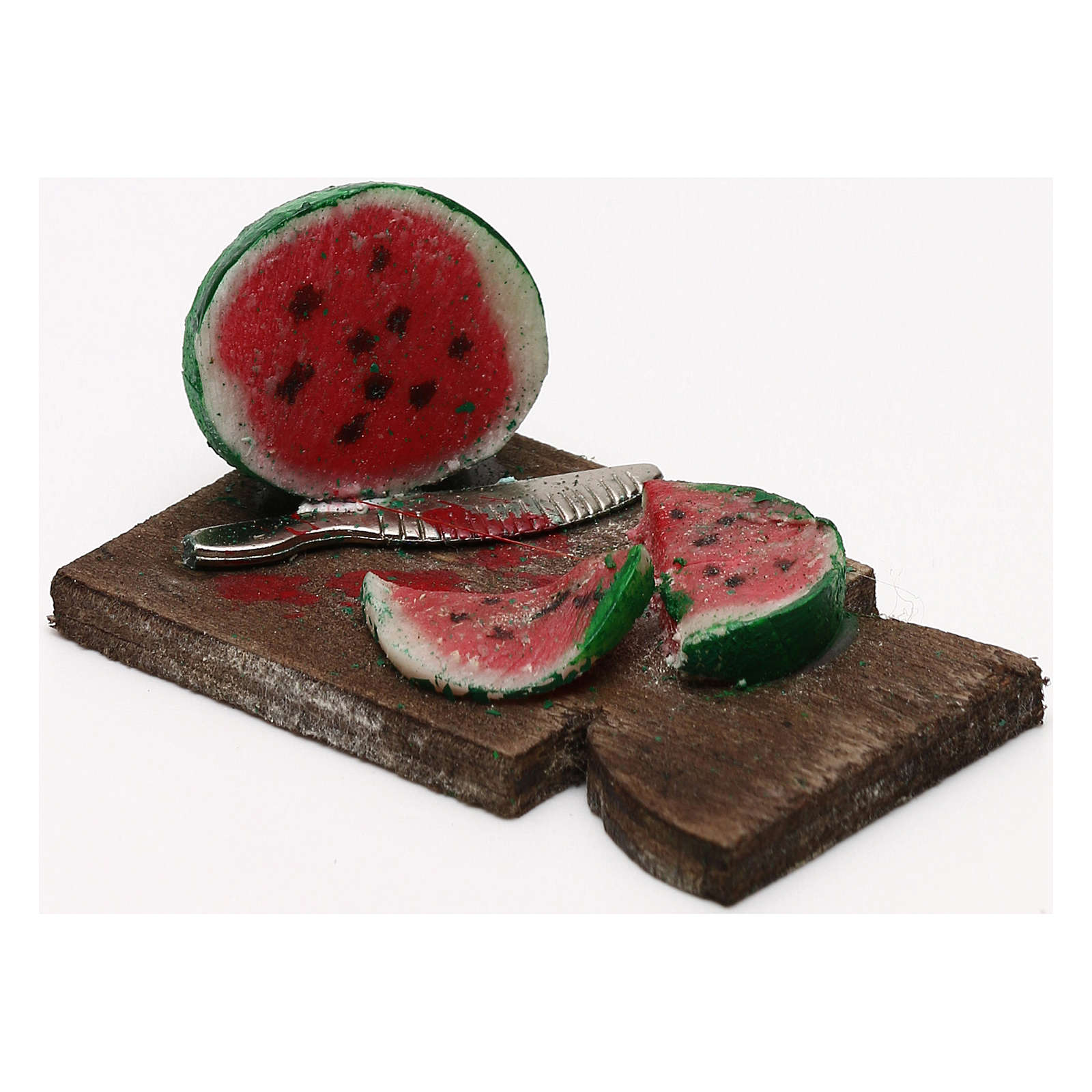 Cutting board with watermelon 24 cm, Neapolitan nativity 4