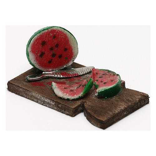 Cutting board with watermelon 24 cm, Neapolitan nativity 2