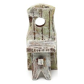 Sedia con schienale presepe 10 cm accessorio 6x2x2 cm s2