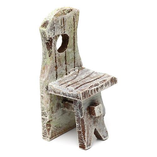 Sedia con schienale presepe 10 cm accessorio 6x2x2 cm 1