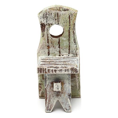 Sedia con schienale presepe 10 cm accessorio 6x2x2 cm 2
