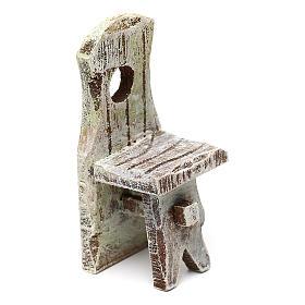 Acessórios de Casa para Presépio: Cadeira com espaldar presépio 10 cm acessório 6x2x2 cm