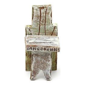 Chaise simple crèche 10 cm accessoire 5x3x3 cm s2