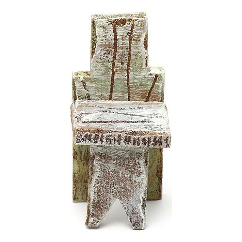Chaise simple crèche 10 cm accessoire 5x3x3 cm 2
