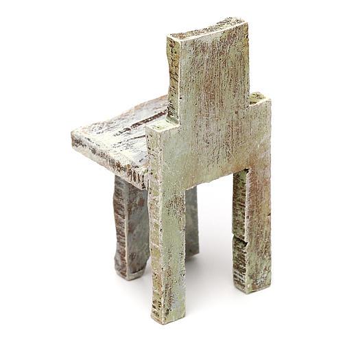 Chaise simple crèche 10 cm accessoire 5x3x3 cm 3