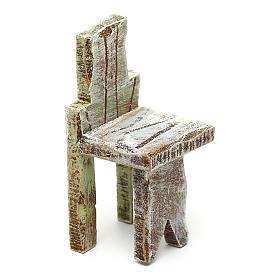 Acessórios de Casa para Presépio: Cadeira simples 5x3x3 cm para presépio com figuras de 10 cm de altura média