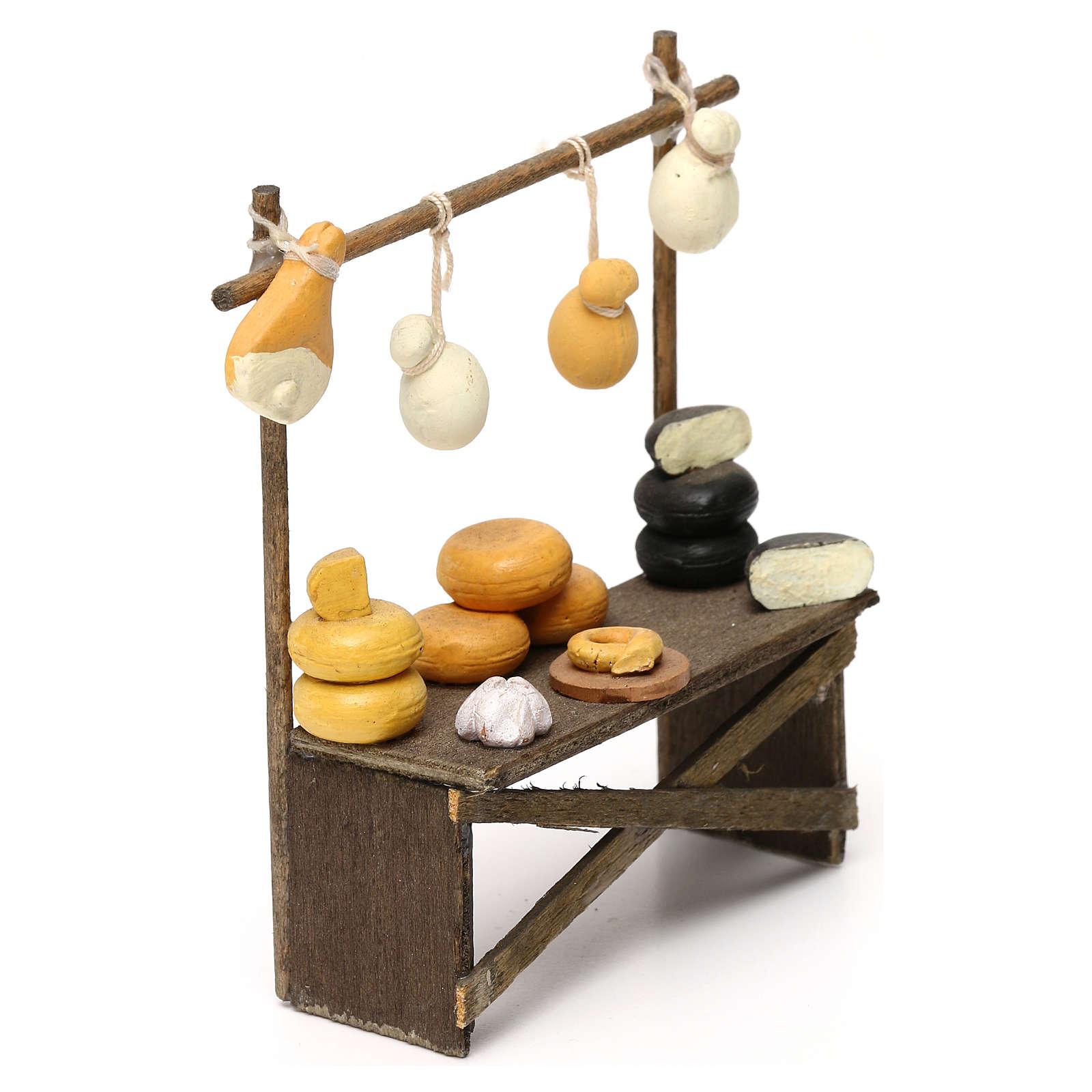 Banco formaggi e salumi presepe napoletano 8/10 cm 4