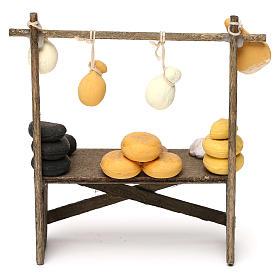 Banco formaggi e salumi presepe napoletano 8/10 cm s4