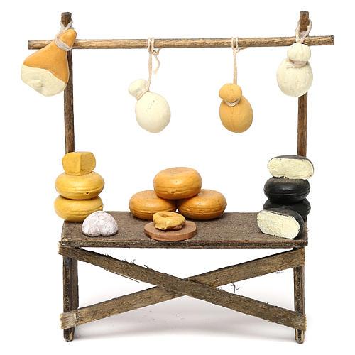 Banco formaggi e salumi presepe napoletano 8/10 cm 1