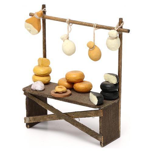 Banco formaggi e salumi presepe napoletano 8/10 cm 2