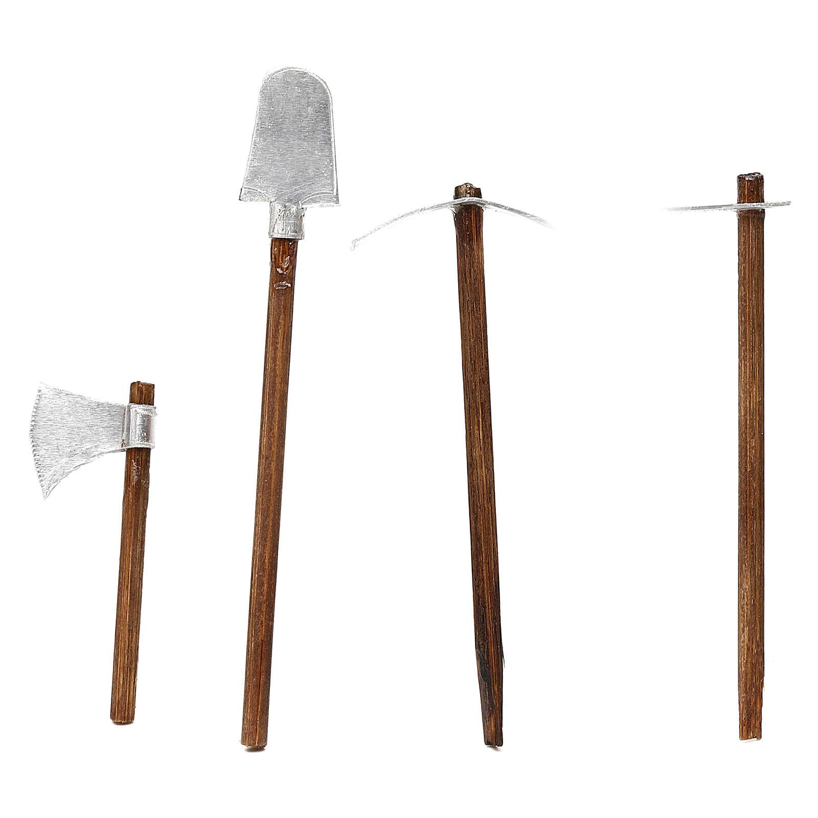 Work tools four models, 8 cm Neapolitan nativity 4
