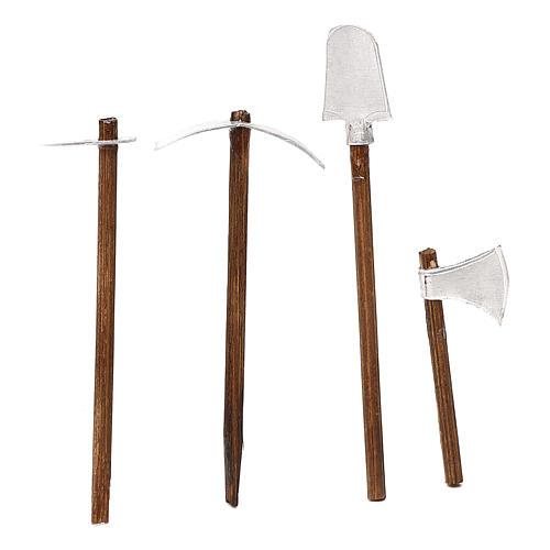 Herramientas de trabajo cuatro modelos belén napolitano cm 8 2