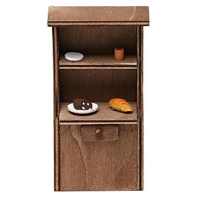 Mueble de madera belén napolitano 8-10 cm s1