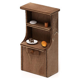 Mueble de madera belén napolitano 8-10 cm s2