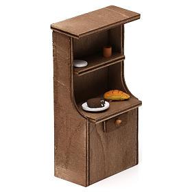 Mueble de madera belén napolitano 8-10 cm s3