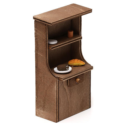 Mueble de madera belén napolitano 8-10 cm 3