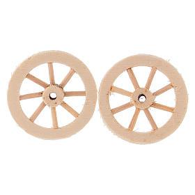 Deux roues en bois 3,5 cm s1