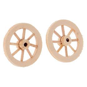 Deux roues en bois 3,5 cm s2
