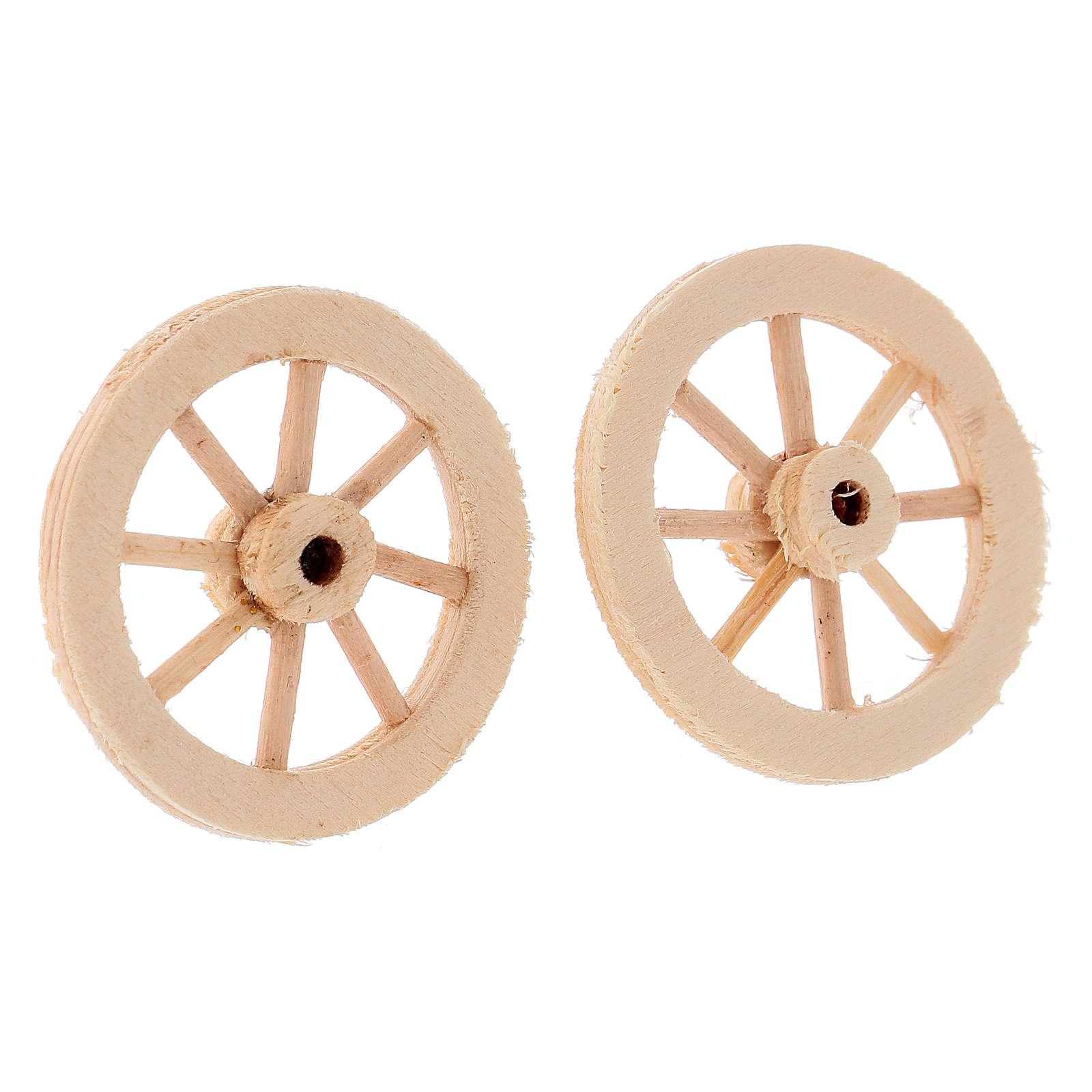 Wooden wheels 3.5 cm 4