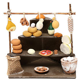 Bench with cold cuts, dairy products and food  products for Neapolitan  Nativity scene of 10 cm s1