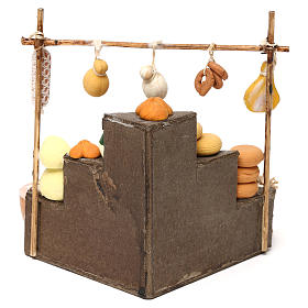 Bench with cold cuts, dairy products and food  products for Neapolitan  Nativity scene of 10 cm s4