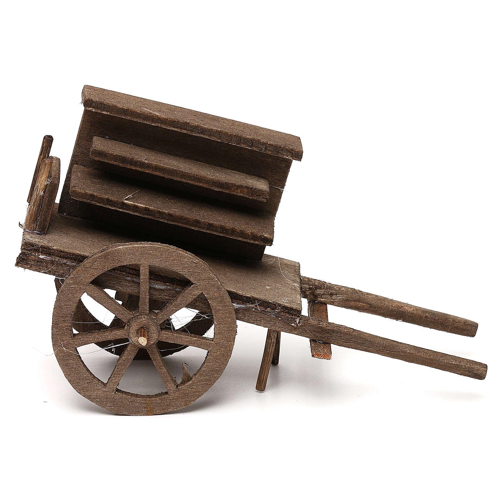Selling wagon for Neapolitan Nativity scene 12 cm 4