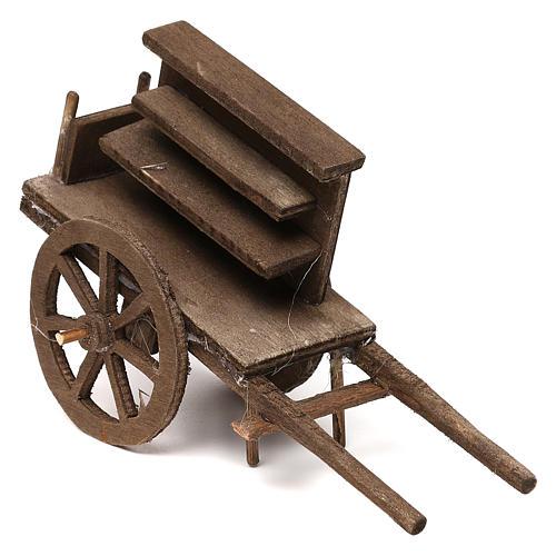 Selling wagon for Neapolitan Nativity scene 12 cm 1