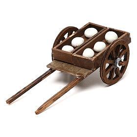 Presépio Napolitano: Carrinho pão não cozido para presépio napolitano com figuras de 8 cm de altura média