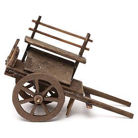 Carro del vendedor de madera belén napolitano 12 cm s3