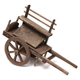 Wóz dla sprzedawcy ulicznego z drewna szopka neapolitańska 12 cm s1