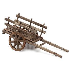 Carro in legno presepe napoletano cm 14 s2