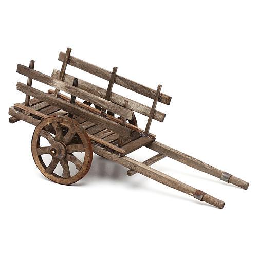 Carro in legno presepe napoletano cm 14 2